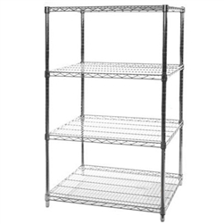 "24""d x 36""w Wire Shelving with 4 Shelves"