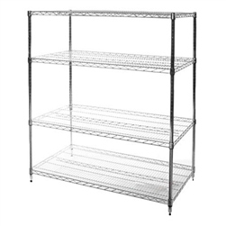 "24""d x 48""w Wire Shelving Racks with 4 Shelves"