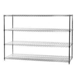 "24""d x 72""w Wire Shelving with 4 Shelves"