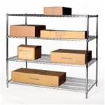 "30""d x 36""w Wire Shelving with 4 Shelves"
