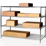 "36""d x 60""w Wire Shelving with 4 Shelves"