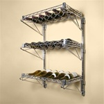 "14"" Deep Three Shelf  Wall Mounted Wine Shelving Kit"