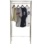 Basic Wire Closet Shelving System- Garment Rack w/ Hat shelf