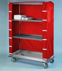 "18""d Wire Shelving Cart Covers - Red"