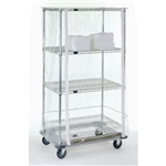 "18""d Wire Shelving Cart Covers - Clear"