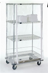 "24""d Wire Shelving Cart Covers - Clear"