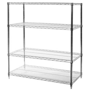 2 shelf chrome wire shelving - Chrome Wire Shelving