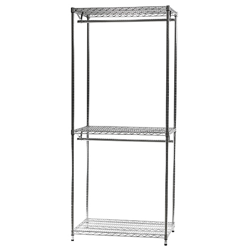 for htm wire d in double reach p closet hang shelving closets shelf