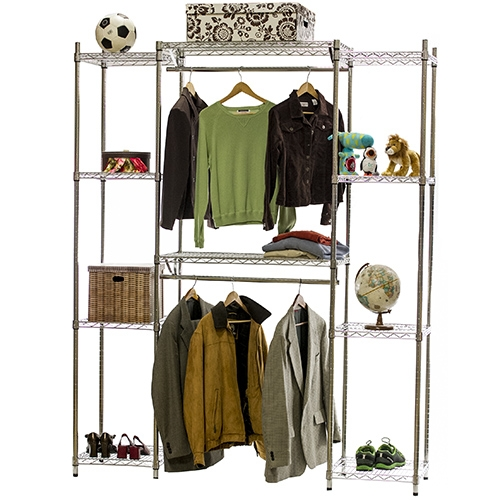 Double Hang Closet Wire Shelving System 18 D X 84 H