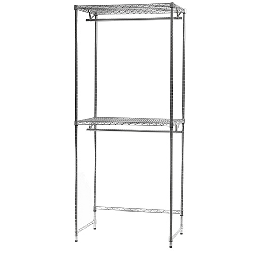 wire closet shelving. Double Hang Wire Closet Shelving- Shelving