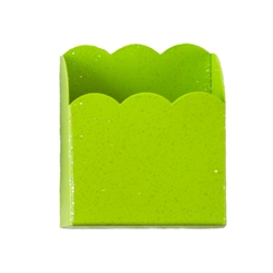 Green magnetic pencil/cellphone holder accessory for kids lockers