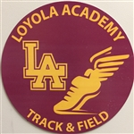 Track and Field Car Magnet