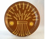 Hendersons Redware Pottery Wheat Sheave Plate