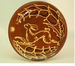 Hendersons Redware Pottery Running Hare