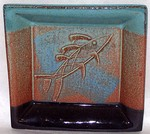 ALL FIRED UP! POTTERY-  SMALL SQUARE TRAY