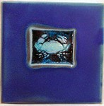 "MICHAEL COHEN- #6 -- ""Crab"" pattern tile"