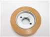 "Small Feeder Wheel 3"" DIA x 1"" WIDE - OM312 / 2032 Tan Rubber"
