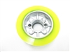 "2"" Wide Power Feeder Wheel Urethane Yellow"