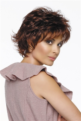 Synthetic Open Top Short Shag Wig - Alyssa by Jon Renau