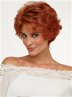 Short Layered Curly Synthetic Open Top Wig by Envy - Bryn