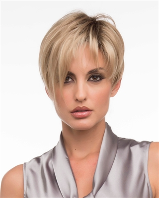 Short Asymmetrical Synthetic Mono Part Wig - Miley by Envy