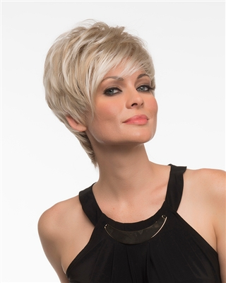Short Wig with Long Side Swept Bangs (Large) - Envy's Shari