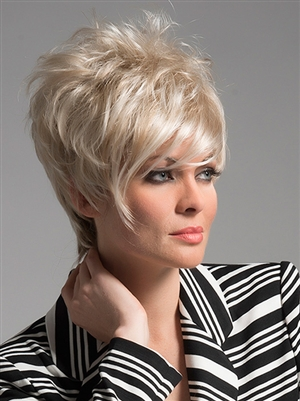 Short Stylish Wig with Long Side Swept Bangs - Shari by Envy
