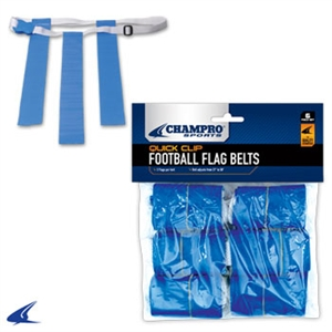 Champro Quick-Clip Adjustable Flag Football Belts (6 Pack)