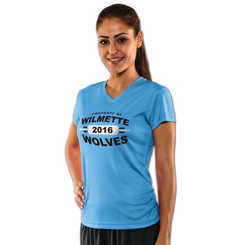 Champro Girls Star V-Neck Dri- Gear Athletic Shirt
