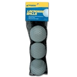 Champro 3 Lacrosse Ball in Mesh Bag with Header Card - White