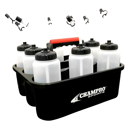 Champro Water Bottle Carrier w/ Bottles and Straws