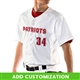 Customizable Champro Reliever Full Button Baseball Jersey