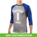 Customizable Champro Extra Innings 3/4 Sleeve Baseball Jersey