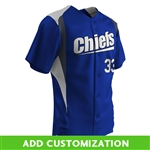 Customizable Champro Bull Pen Full Button Jersey