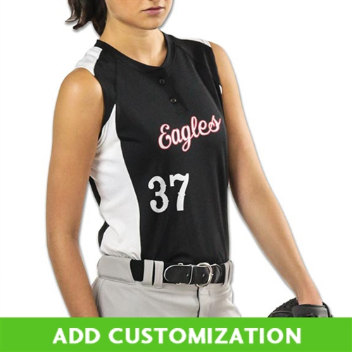 Customizable Champro Diamond Active 2 Button Sleeveless Fastpitch Jersey