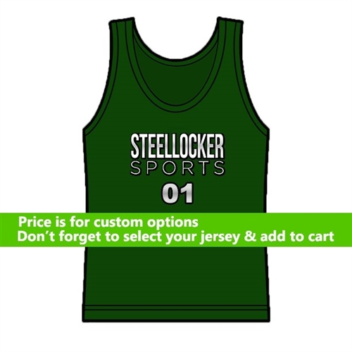 Custom Basketball Jersey Screen Printing - Team Logo or Name