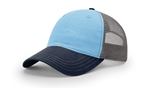 Richardson Garment Washed Tri-Color Trucker Hat