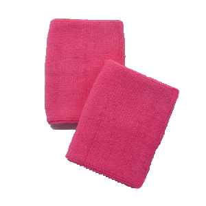 Pink Cotton Wristbands - Pair