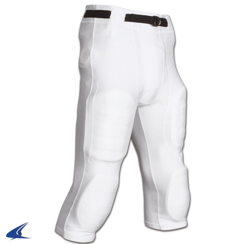 White Champro Adult Slotted Football Pants