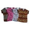 Pizzazz Performance Wear | Adult Animal Print Raglan Cap Sleeve Tee | 1020-PIZ-6800AP