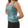 Pizzazz Performance Wear | Adult Zebra Glitter Racer Back Top | 1037-PIZ-9400ZG