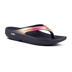 OOFOS | OOlala Luxe Rose Gold Sandal | 10893-OOF-1401RSGLD