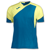 Joma | T-SHIRT GRANADA NAVY BLUE-YELLOW V-NECK | 11054-JOM-100565.907