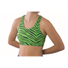 Pizzazz Performance Wear | Adult Zebra Glitter Sports Bra | 1107-PIZ-3600ZG