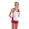 Pizzazz Performance Wear | Youth Zebra Twist Top | 1108-PIZ-4700AP