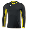 Joma | L/S T-SHIRT CHAMPION IV BLACK-YELLOW | 11084-JOM-100779.109