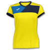 Joma | SHORT SLEEVE T-SHIRT CREW II YELLOW-NAVY BLUE WOMEN | 11088-JOM-900385.903