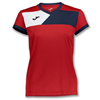 Joma | SHORT SLEEVE T-SHIRT CREW II RED-NAVY BLUE WOMEN | 11090-JOM-900385.603