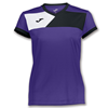 Joma | SHORT SLEEVE T-SHIRT CREW II PURPLE-BLACK WOMEN | 11091-JOM-900385.551