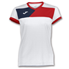 Joma | SHORT SLEEVE T-SHIRT CREW II WHITE-RED WOMEN | 11096-JOM-900385.206